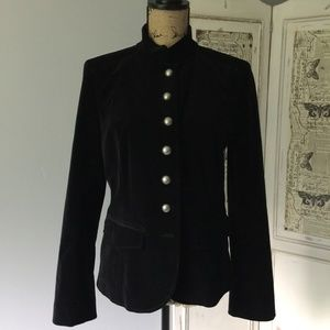 Vintage Dana Buchman Black Velvet Blazer Sz 10
